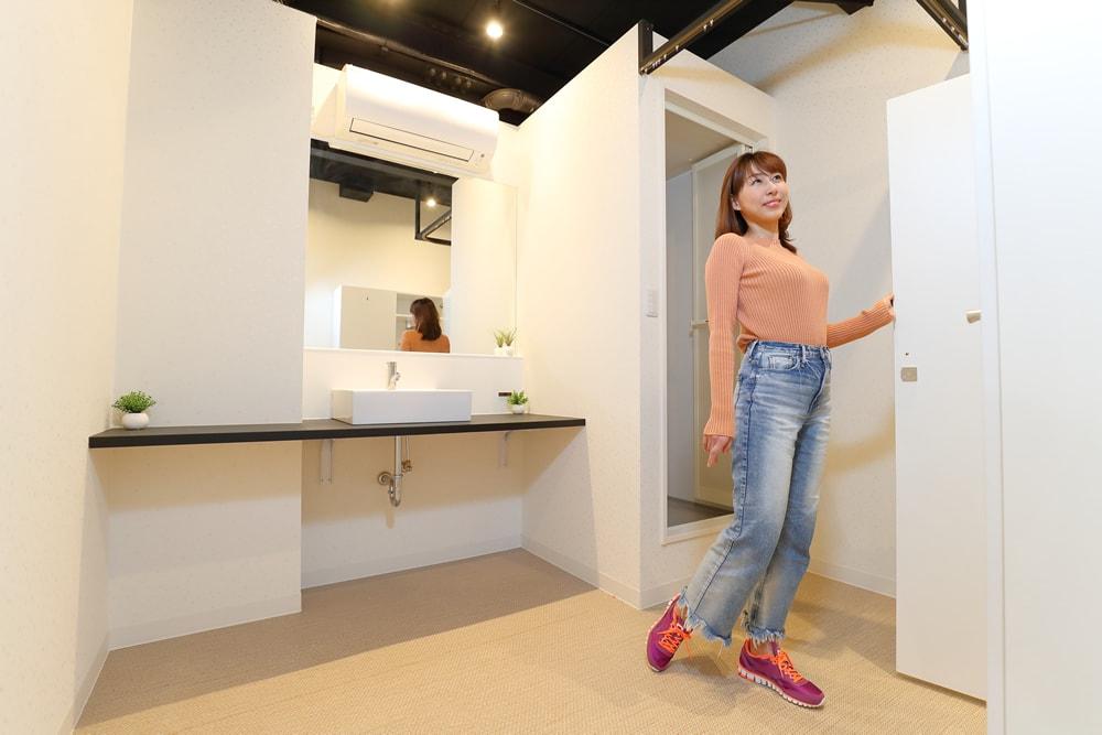fis.lady's江坂の更衣室